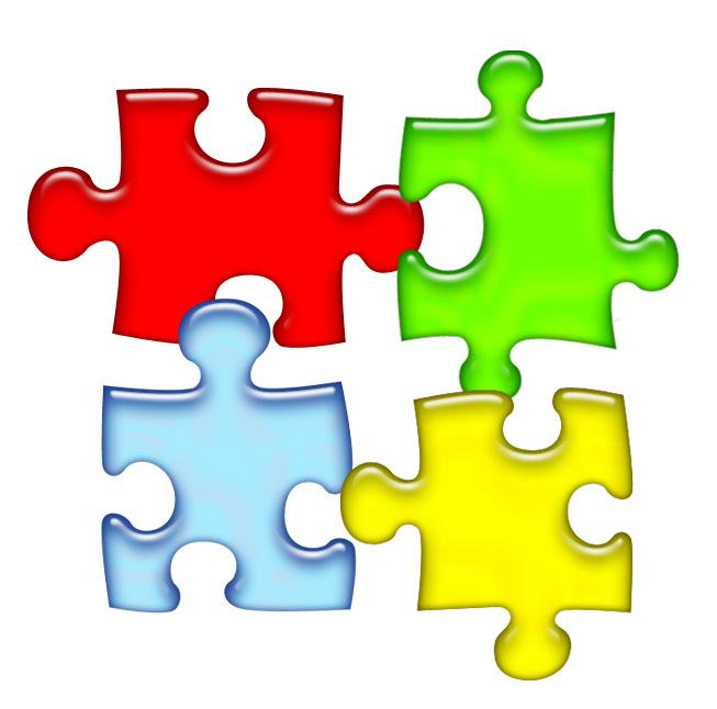 Puzzle piece powerpoint. Autism awareness clipart panda