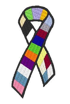 Cancer awareness ribbon bracelet