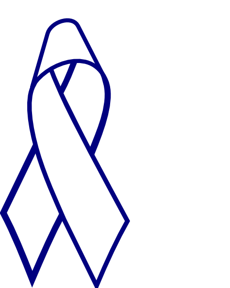 Blue Outline Cancer Ribbon Clipart Panda Free Clipart