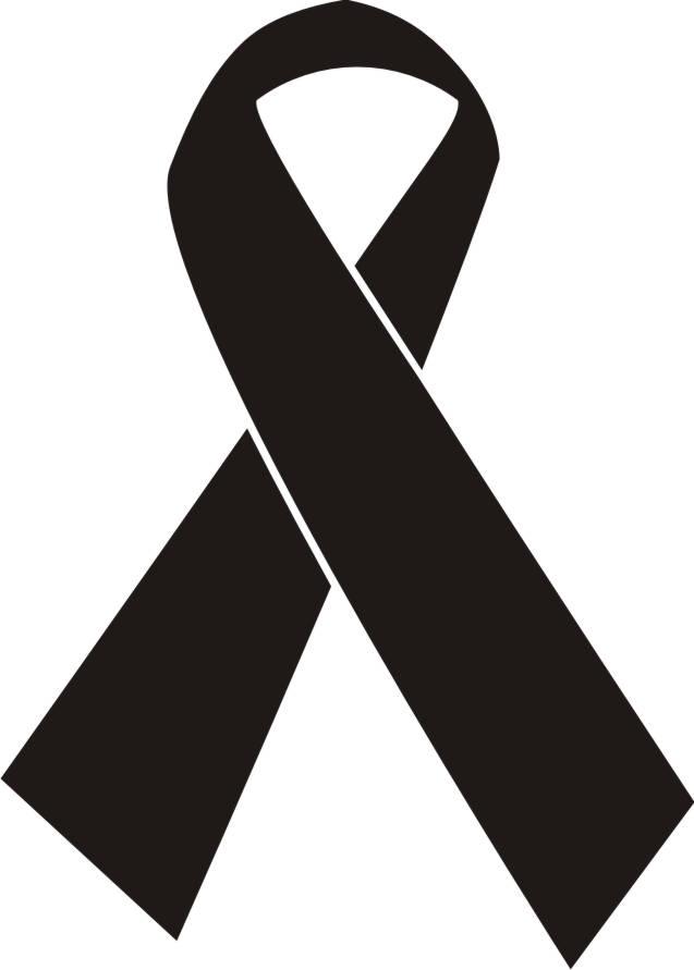 cancer ribbon clip art black and white