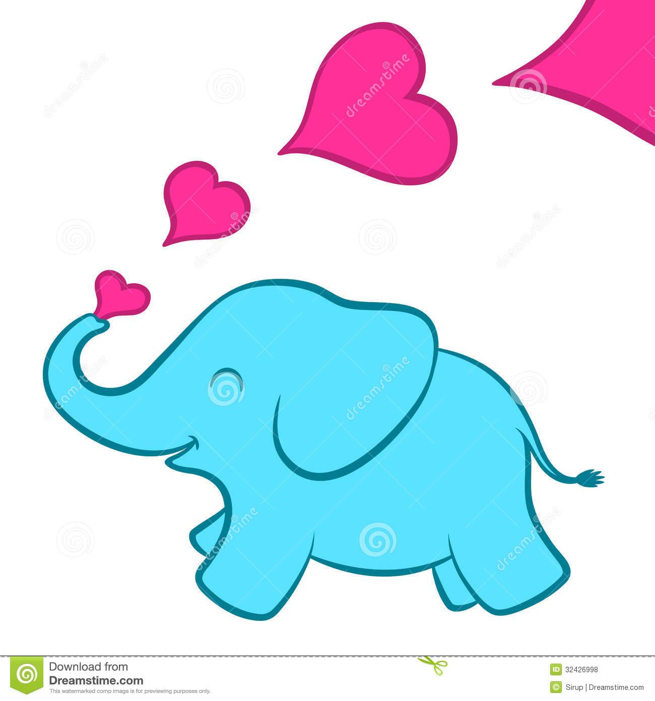 Cute pink elephant cartoon - photo#25