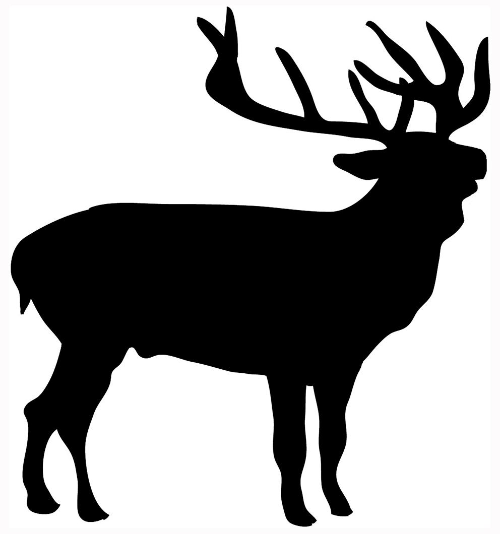 Image De Art Deer And Drawing: Baby Deer Silhouette Clip Art
