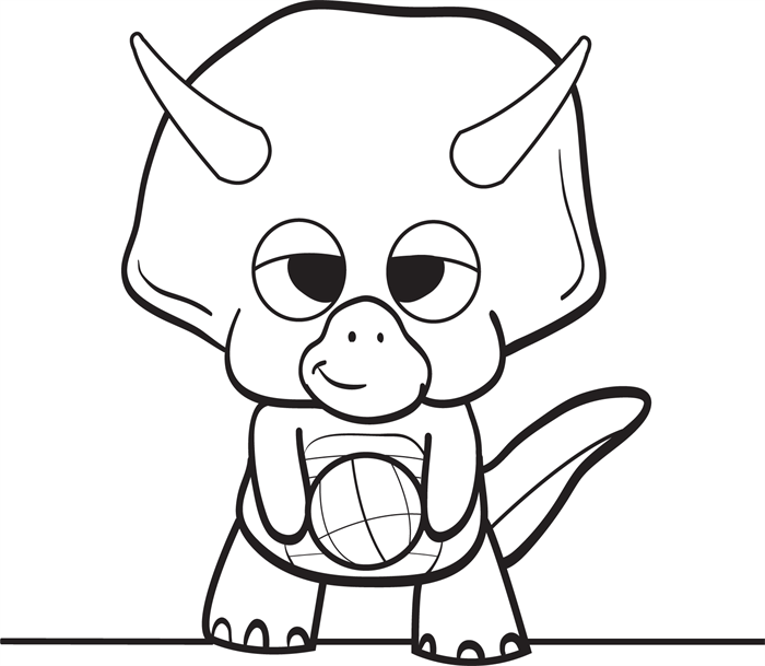 Baby dinosaur coloring pages clipart panda free for Triceratops coloring page