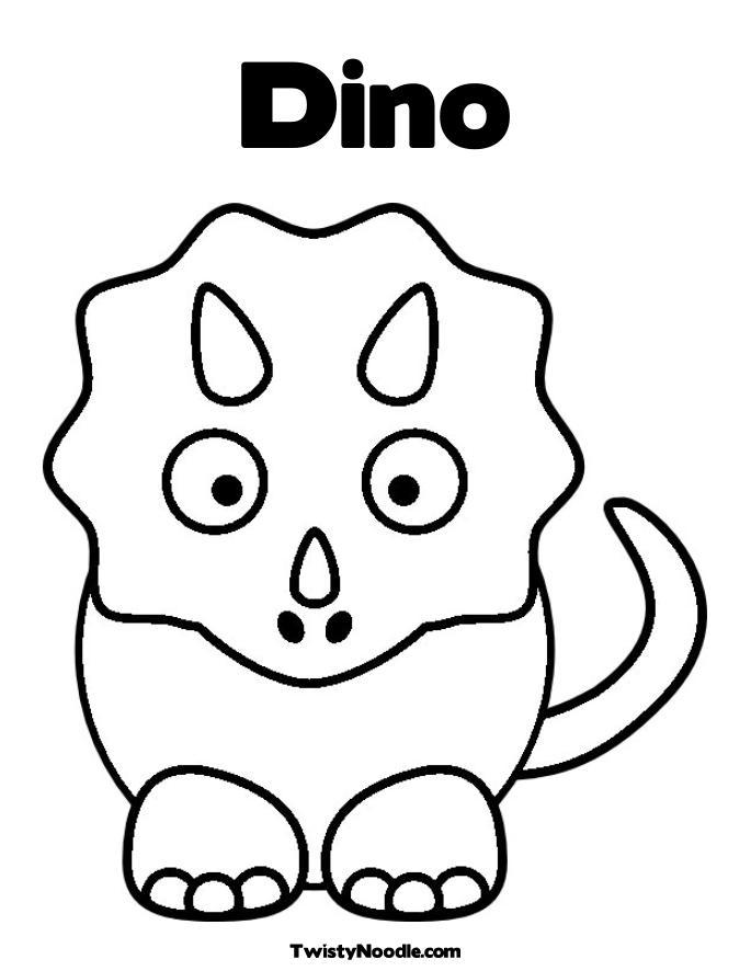 coloring pages dinosaurs triceratops baby - photo#37
