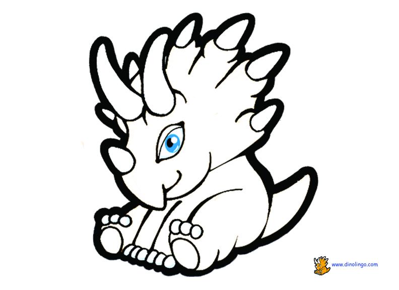 Baby Dinosaur Coloring Pages | Clipart Panda - Free