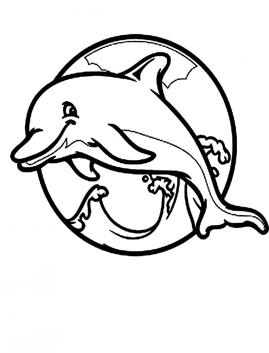 Baby dolphin coloring pages clipart panda free clipart for Bottlenose dolphin coloring page