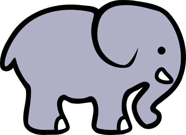 Baby Elephant Clipart Outline | Clipart Panda - Free ...