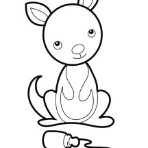 Baby Kangaroo Coloring Pages Page