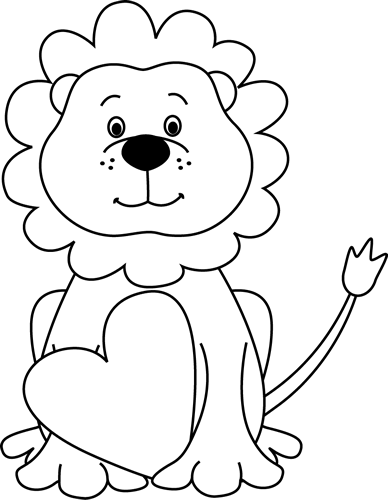 Baby Lion Clipart Black And White | Clipart Panda - Free ...