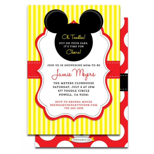 Baby Minnie Mouse Invitations Baby Shower | Clipart Panda ...
