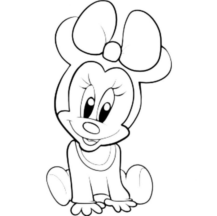 Baby minnie mouse pictures clipart panda free clipart for Minnie coloring pages to print