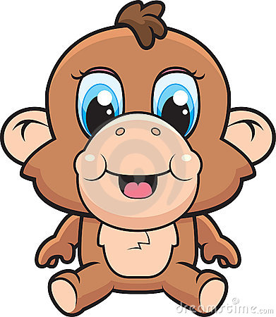 Monkey Cartoon Baby baby girl monkey cartoon clip