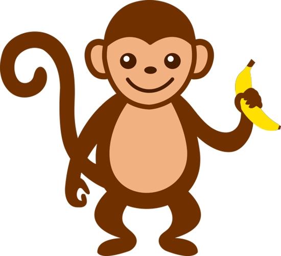 baby monkey clip art - photo #2
