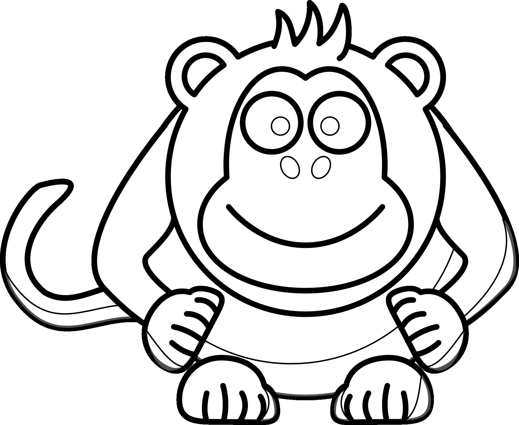 Cartoon Baby Monkey Drawing