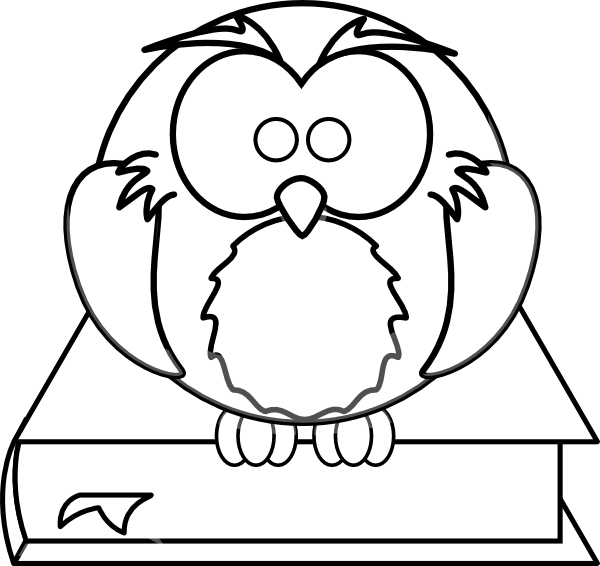 baby-owl-clipart-black-and-white-owl-on-book-black-and-white-hi pngBaby Owl Clipart Black And White