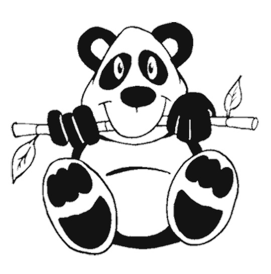 Pandas free coloring pages for Coloring pages panda