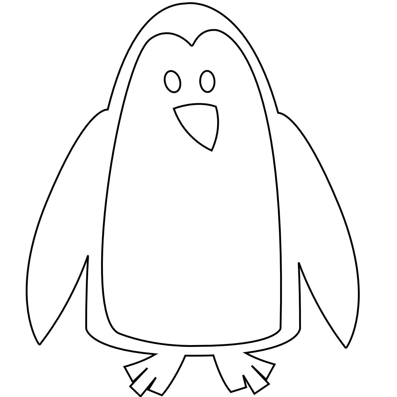 baby%20penguin%20clipart%20black%20and%20white