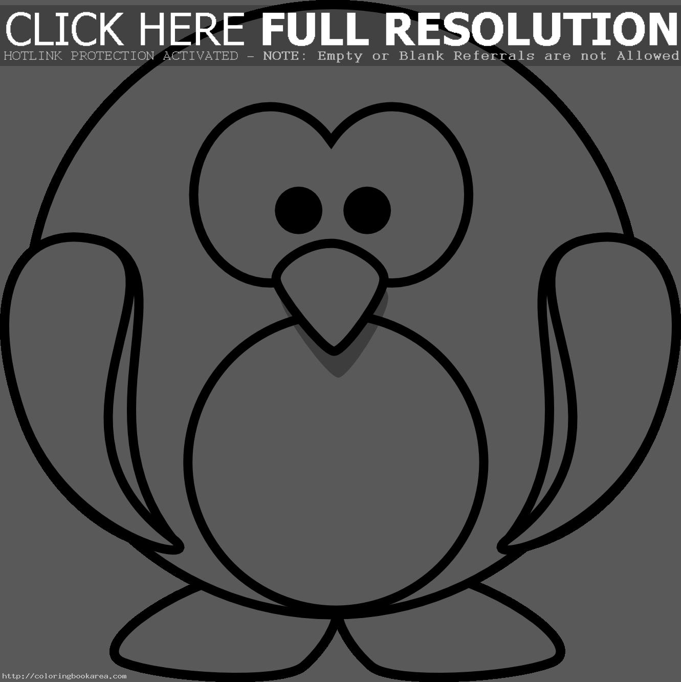 Baby Penguin Coloring Pages | Clipart Panda - Free Clipart Images