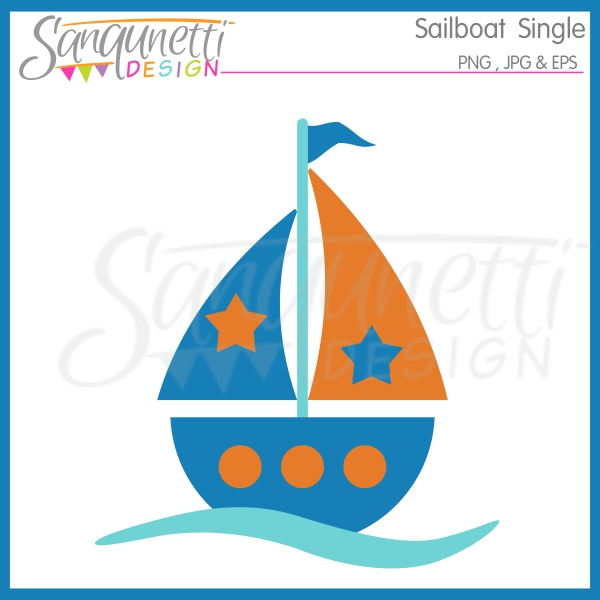 Blue Baby Sailboat Clipart | Clipart Panda - Free Clipart Images