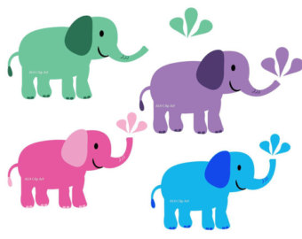 Baby Shower Elephant Clip Art
