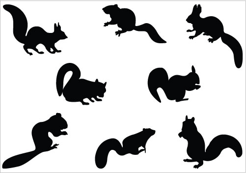 Cute Squirrel Silhouette | Clipart Panda - Free Clipart Images