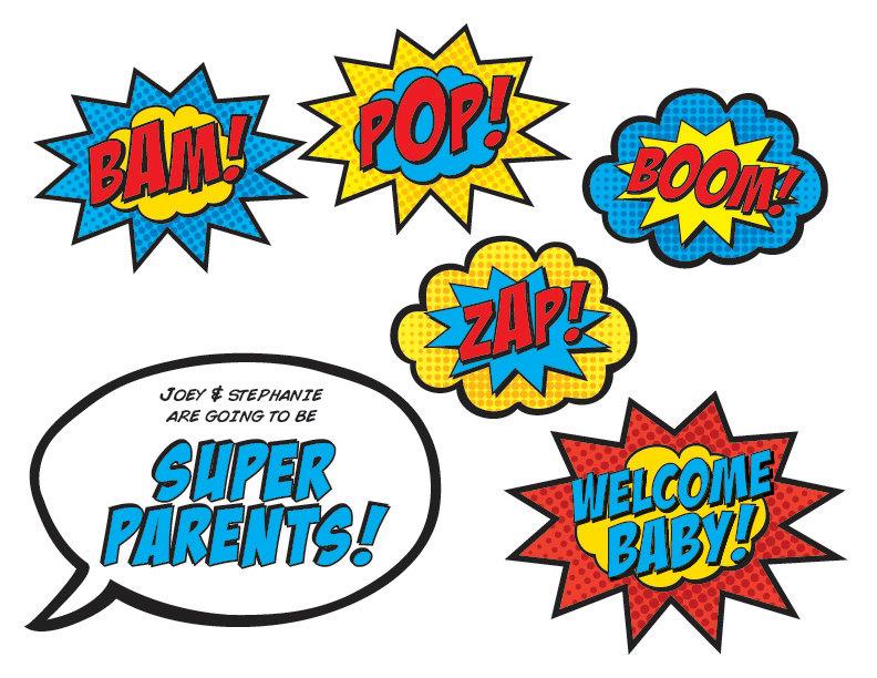 Baby Superheroes: Superhero Baby Shower Cake
