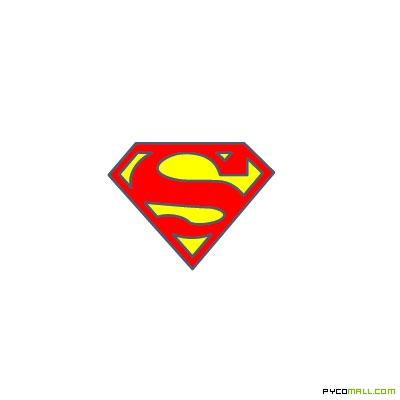 Baby Superman Clipart Logo Template Item
