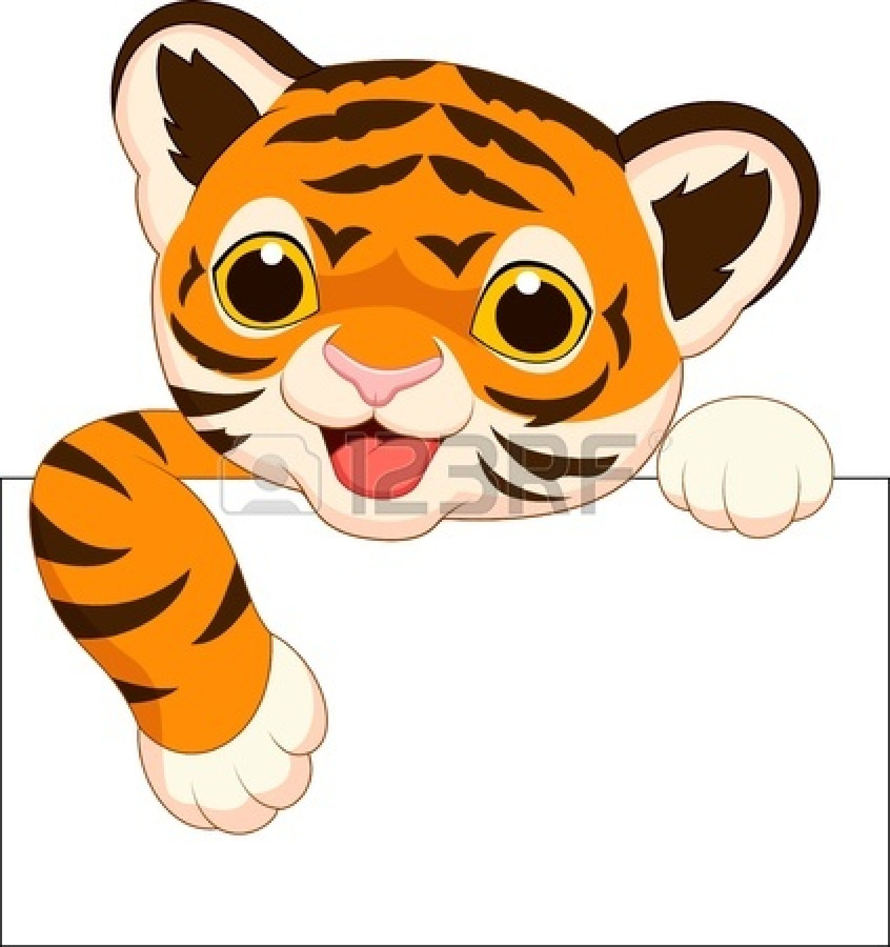 Cute Cartoon Baby Tige...