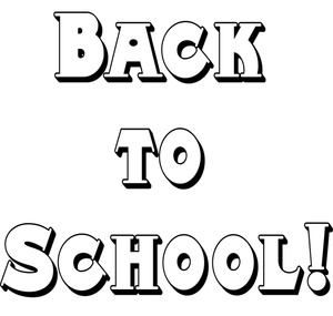 Back To School Clip Art Black And White | Clipart Panda - Free ...