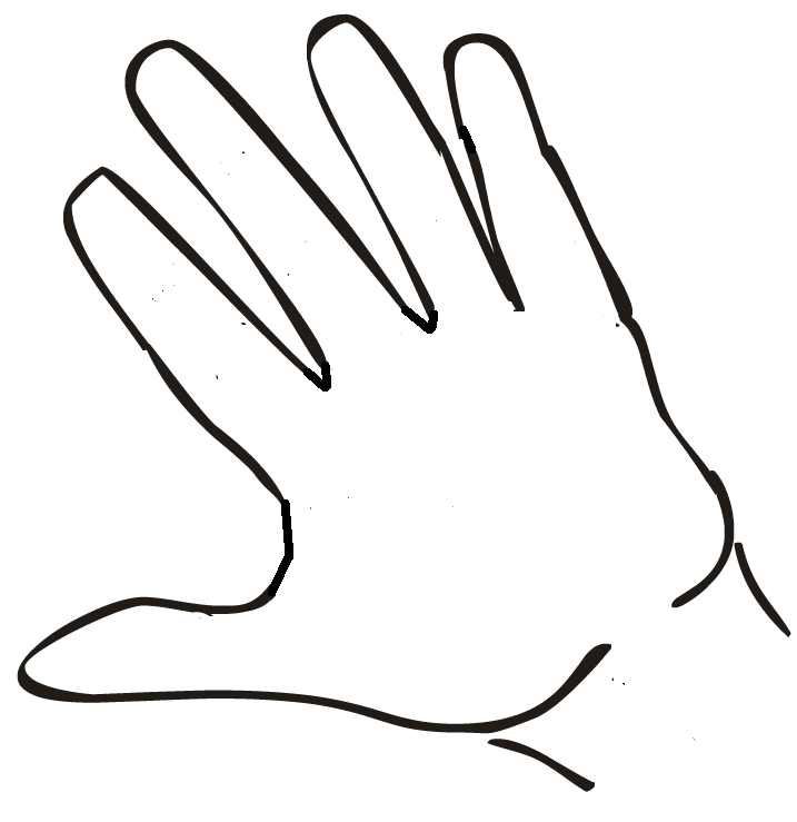 Open back. Hands drawing hand clipart