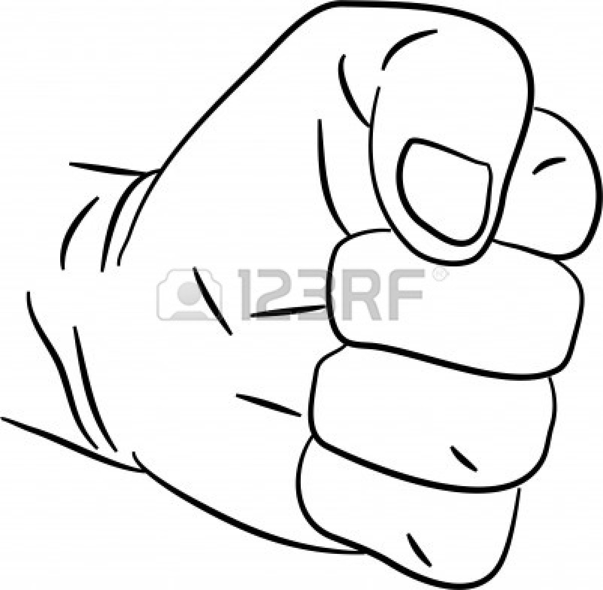 Line Drawing Of Hand : Back of hand drawing clipart panda free images