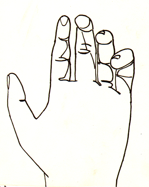 Line Drawing Your Photo : Back of hand drawing clipart panda free images