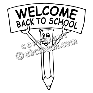 welcome back school clip art
