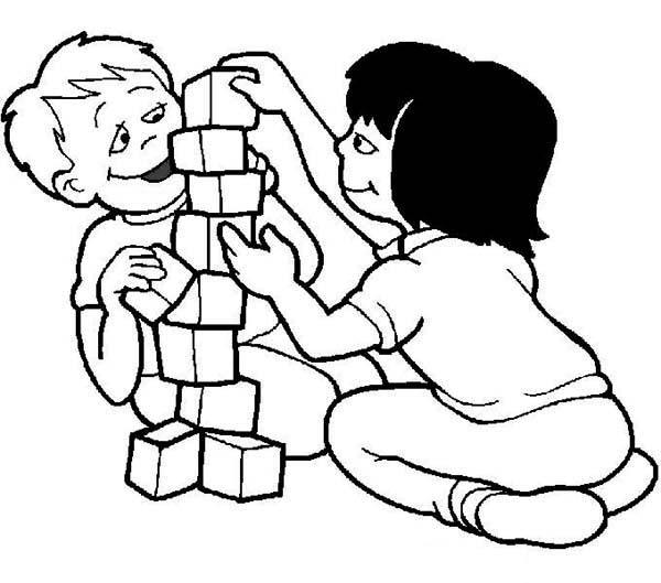 coloring pages building block - photo#32