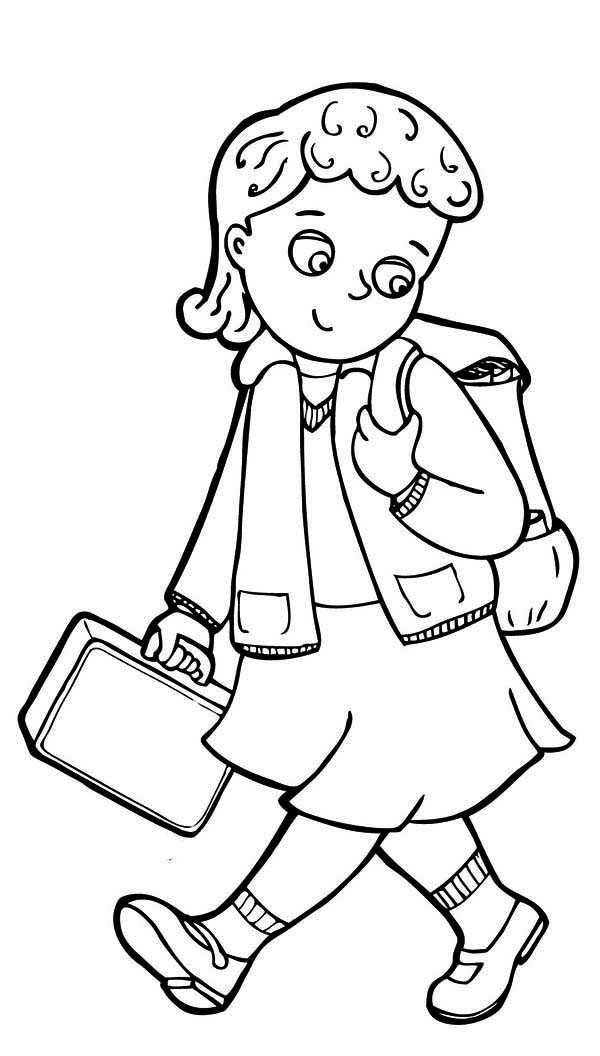 Back To School Coloring Pages For Preschool Clipart Panda Free