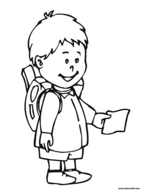 Back to school coloring page clipart panda free for Coloring pages for college students