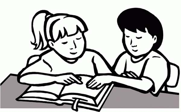 students working together coloring pages - photo#9