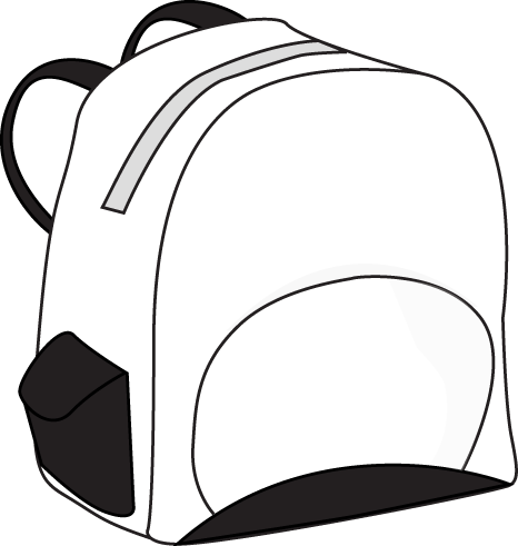 Backpack Clipart Black And White | Clipart Panda - Free ...