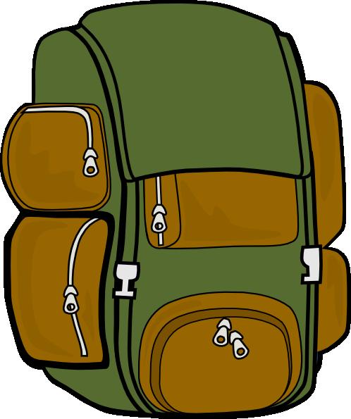 backpack green brown clip art clipart panda free clipart images rh clipartpanda com backpack clipart images