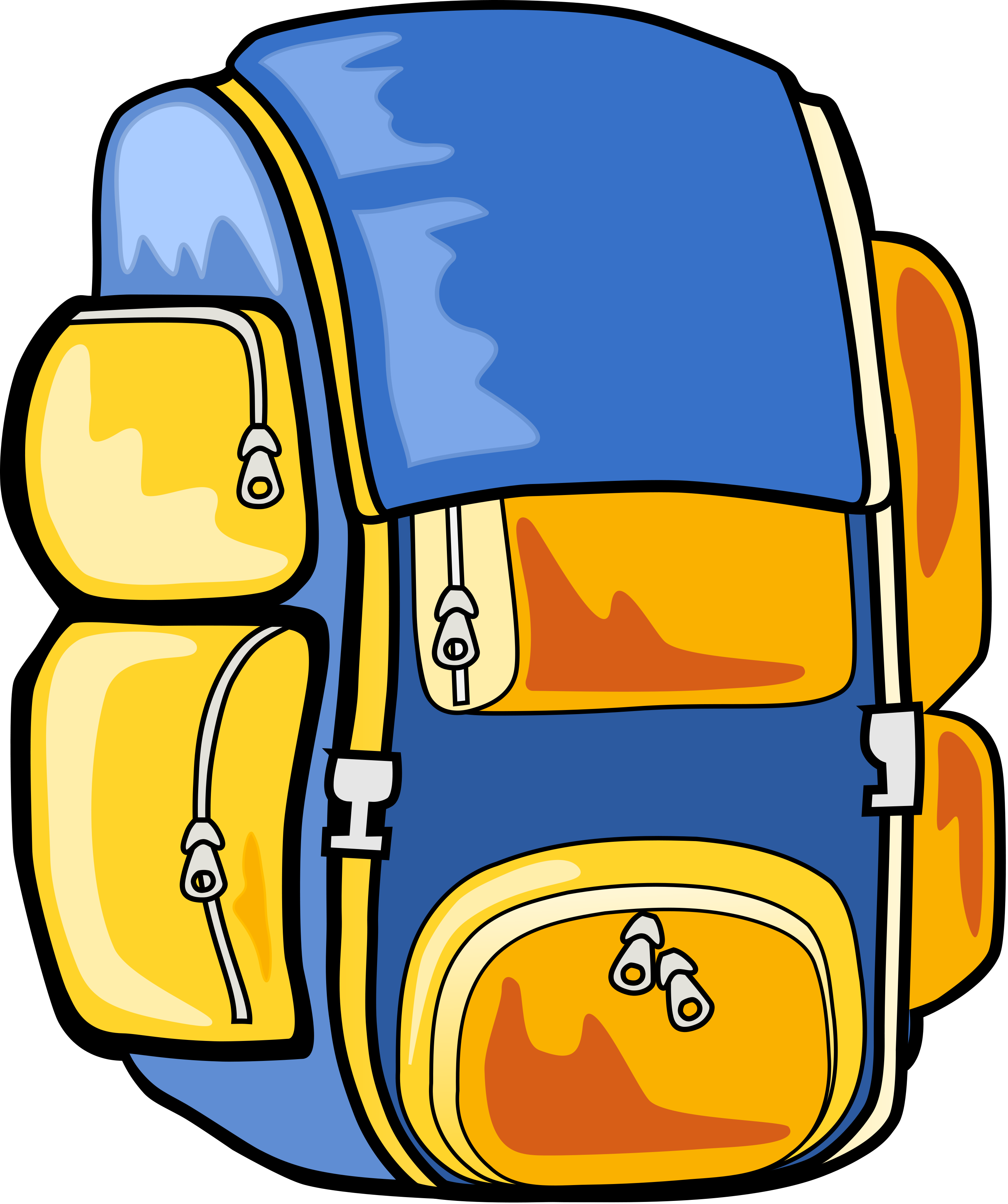 Clip Art Clipart Backpack hiking backpack clipart panda free images