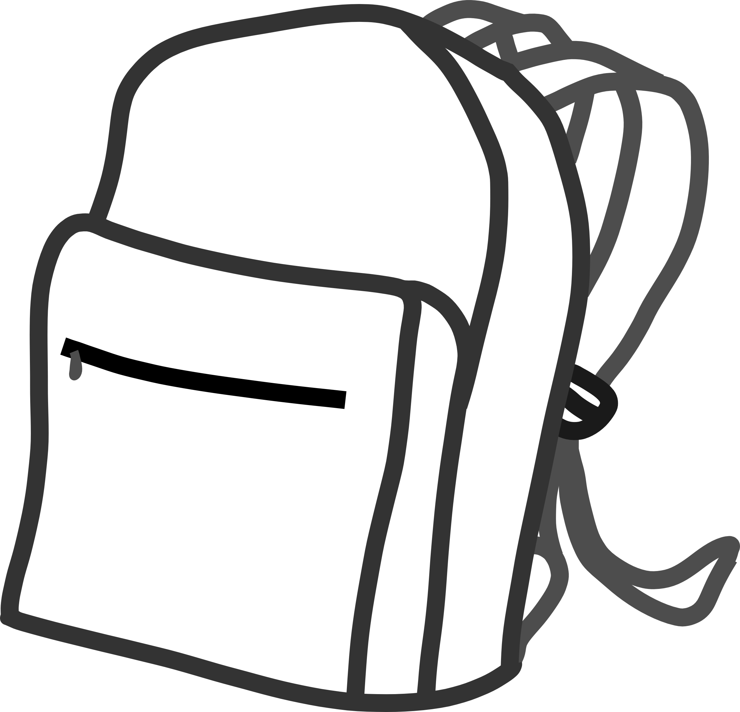 Backpack Coloring: Clipart Panda - Free Clipart Images