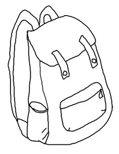 Backpack Coloring Page Clipart Panda Free Clipart Images
