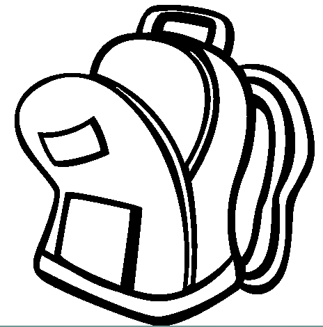 backpack free coloring pages Clipart Panda Free Clipart Images