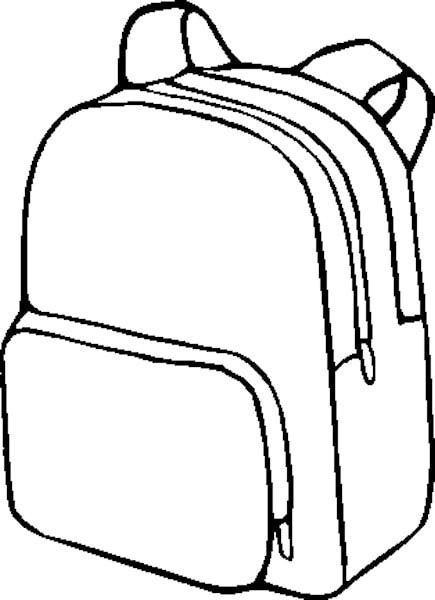 Backpack Coloring Page   Clipart Panda - Free Clipart Images