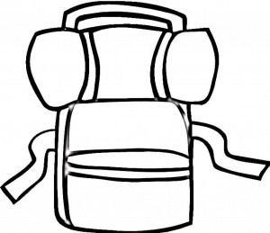 Backpack Coloring Page 14501   Clipart Panda - Free Clipart Images