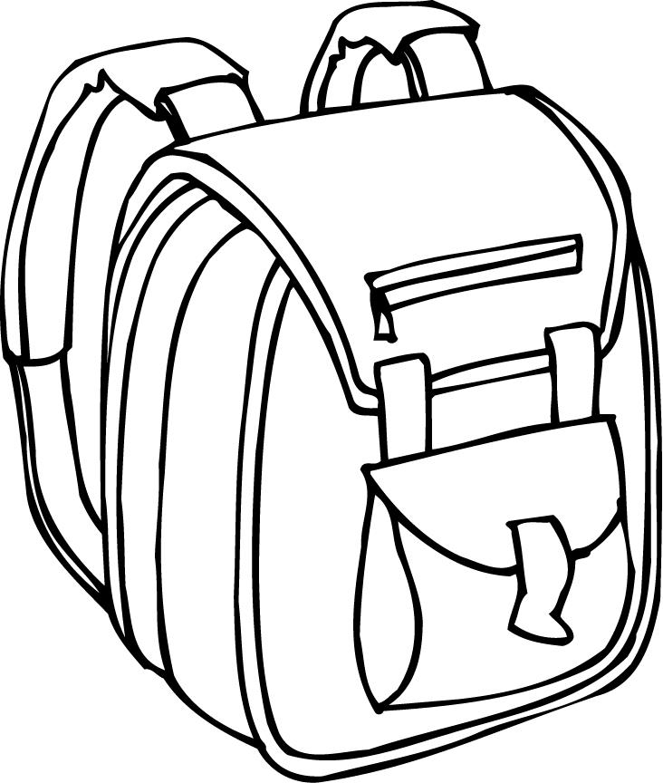 Backpack Coloring Page on Camping Color Pages