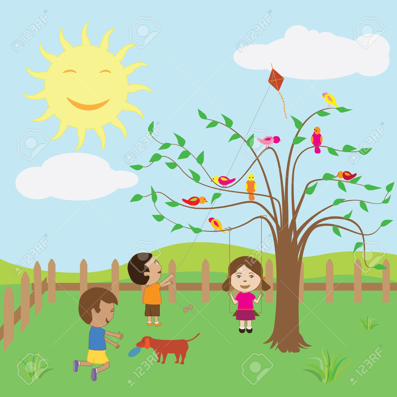 Bright sunny day clipart imgkid the image kid