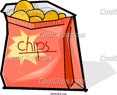 Bag Of Potato Chips Clipart