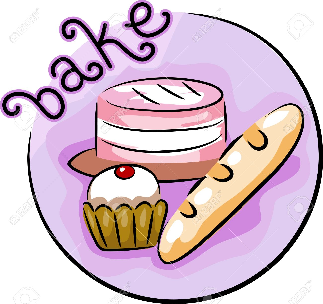 Baking A Cake Clip Art : clipart bake: Illustration of Clipart Panda - Free ...
