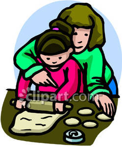 Mom Baking Cookies with Her | Clipart Panda - Free Clipart ...